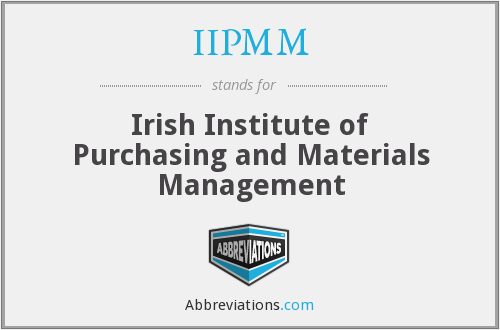 What does IIPMM stand for?
