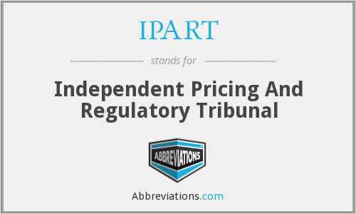 What does IPART stand for?
