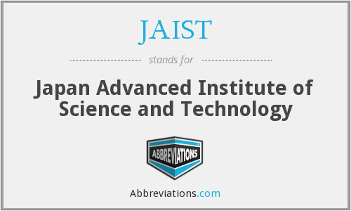What does JAIST stand for?