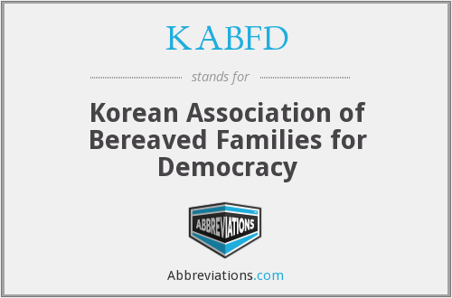 KABFD - Korean Association of Bereaved Families for Democracy