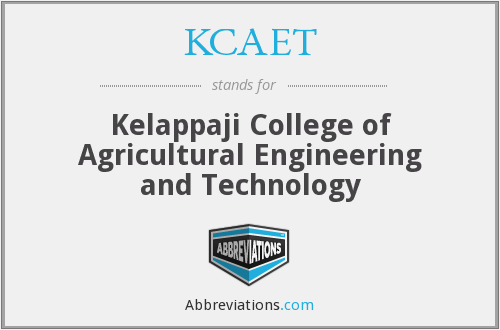 What does KCAET stand for?