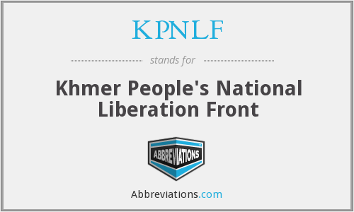 What does KPNLF stand for?