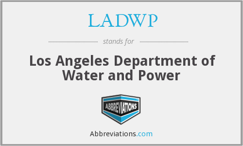 What does LADWP stand for?