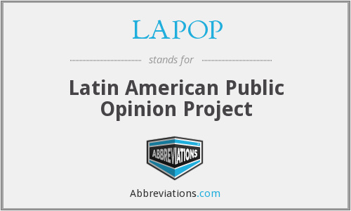 What does LAPOP stand for?