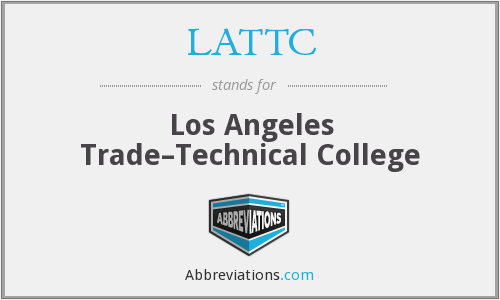 What does LATTC stand for?