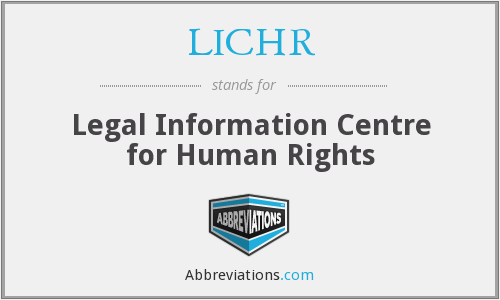 What does LICHR stand for?