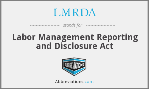 What does LMRDA stand for?