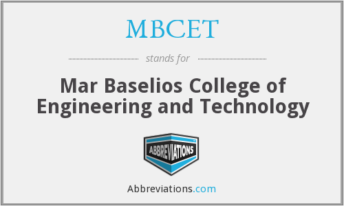 What does MBCET stand for?