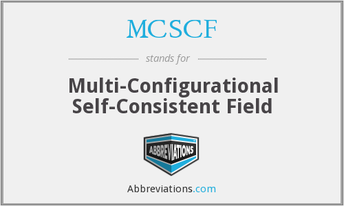 What does MCSCF stand for?