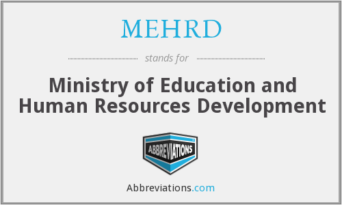 MEHRD - Ministry of Education and Human Resources Development