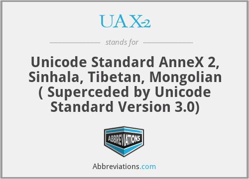UAX-2 - Unicode Standard AnneX 2, Sinhala, Tibetan, Mongolian ( Superceded by Unicode Standard Version 3.0)