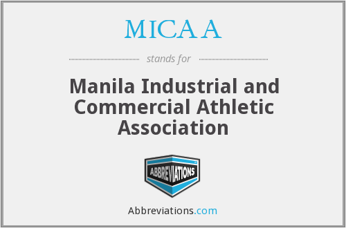 What does MICAA stand for?