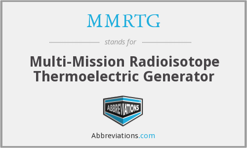 What does MMRTG stand for?