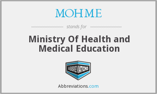 MOHME - Ministry Of Health and Medical Education