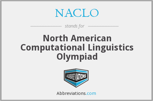 What does NACLO stand for?