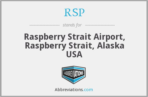 RSP - Raspberry Strait Airport, Raspberry Strait, Alaska USA