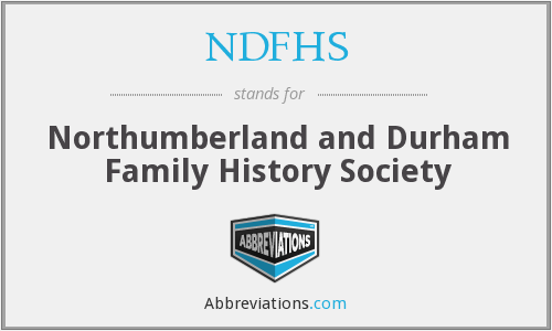 NDFHS - Northumberland and Durham Family History Society