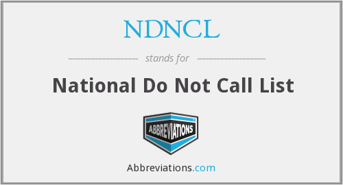 What does NDNCL stand for?