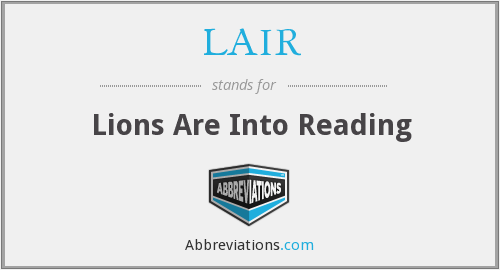 LAIR - Lions Are Into Reading