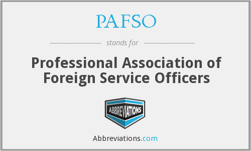 What does PAFSO stand for?