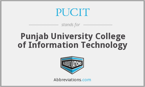 What does PUCIT stand for?