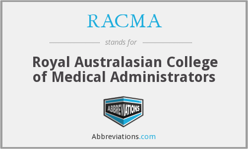 What does RACMA stand for?