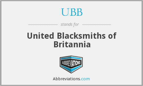 UBB - United Blacksmiths of Britannia