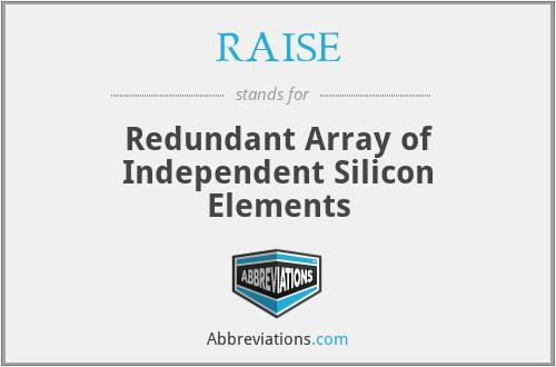 RAISE - Redundant Array of Independent Silicon Elements