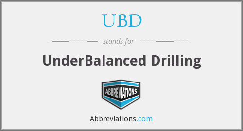 UBD - UnderBalanced Drilling