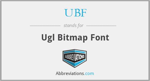 UBF - Ugl Bitmap Font