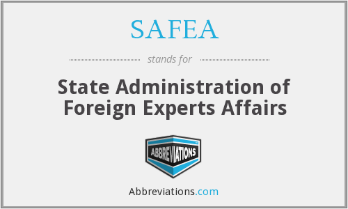 What does SAFEA stand for?