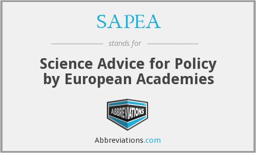 What does SAPEA stand for?