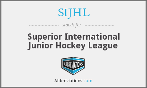 What does SIJHL stand for?