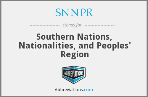 What does SNNPR stand for?