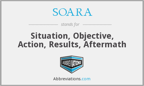 SOARA - Situation, Objective, Action, Results, Aftermath