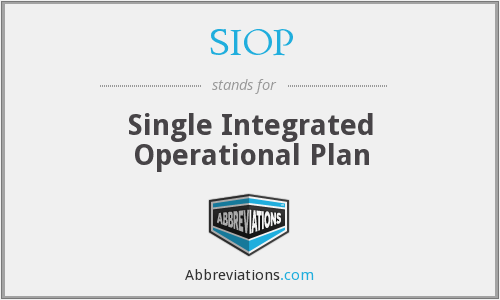 SIOP - Single Integrated Operational Plan