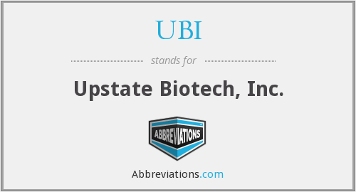 UBI - Upstate Biotech, Inc.