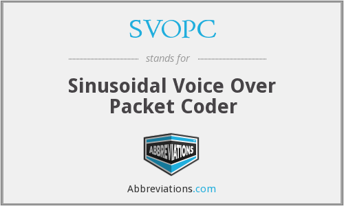 What does SVOPC stand for?