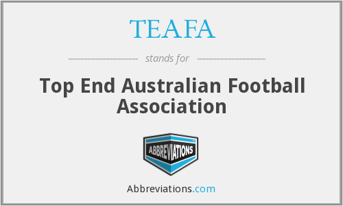 TEAFA - Top End Australian Football Association