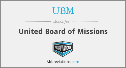 UBM - United Board of Missions