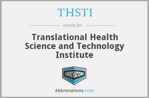 What does THSTI stand for?