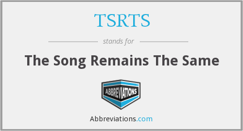 What does TSRTS stand for?