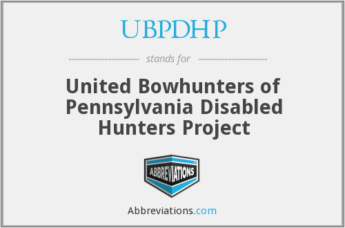 What does UBPDHP stand for?