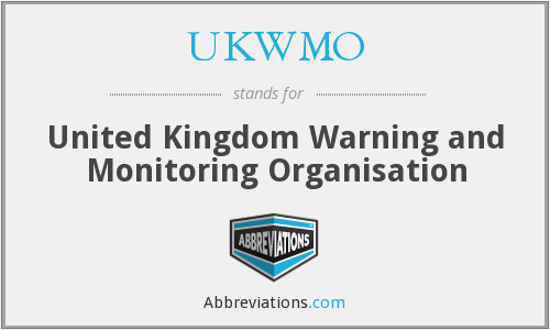 What does UKWMO stand for?