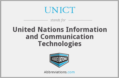 What does UNICT stand for?