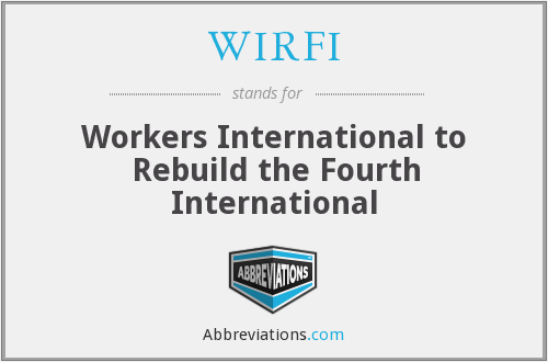 What does WIRFI stand for?