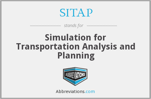 SITAP - Simulation for Transportation Analysis and Planning