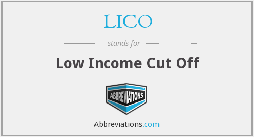 LICO - Low Income Cut Off