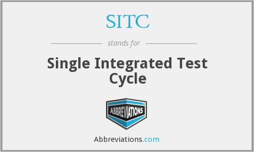 SITC - Single Integrated Test Cycle