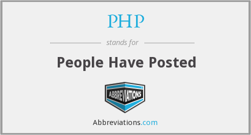 PHP - People Have Posted